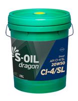 S-OIL dragon CI-4/SL 20W50