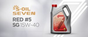 S-OIL 7 RED #5 SG 15W-40